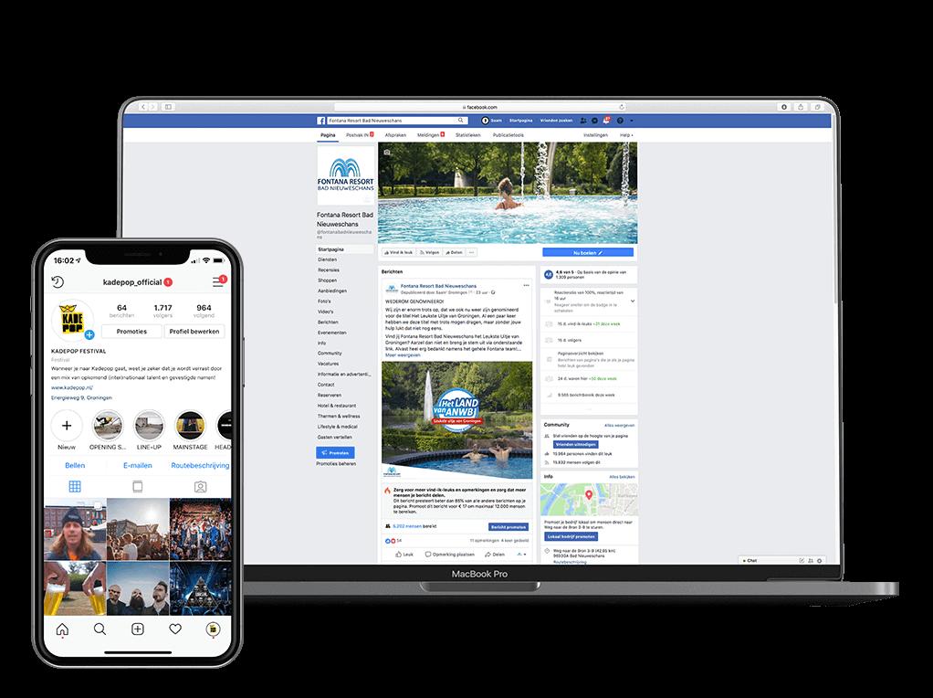 Facebook & Instagram marketing op maat