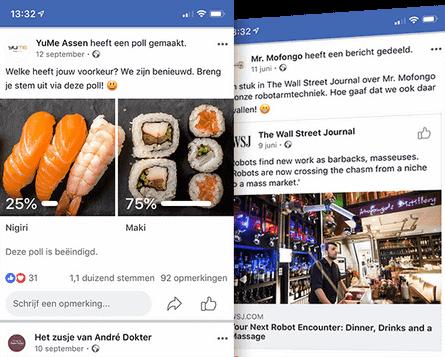 Facebook organisch uitbesteden